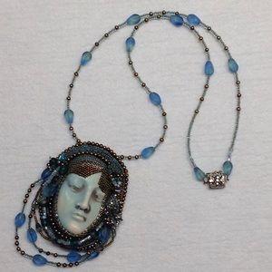 Jewelry - Unique Porcelain Face Necklace